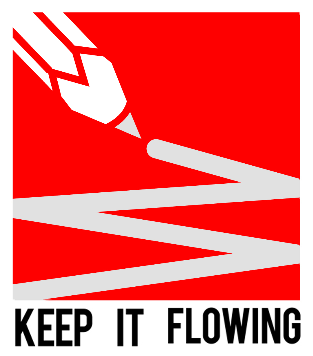 keep it flowing logo portrait