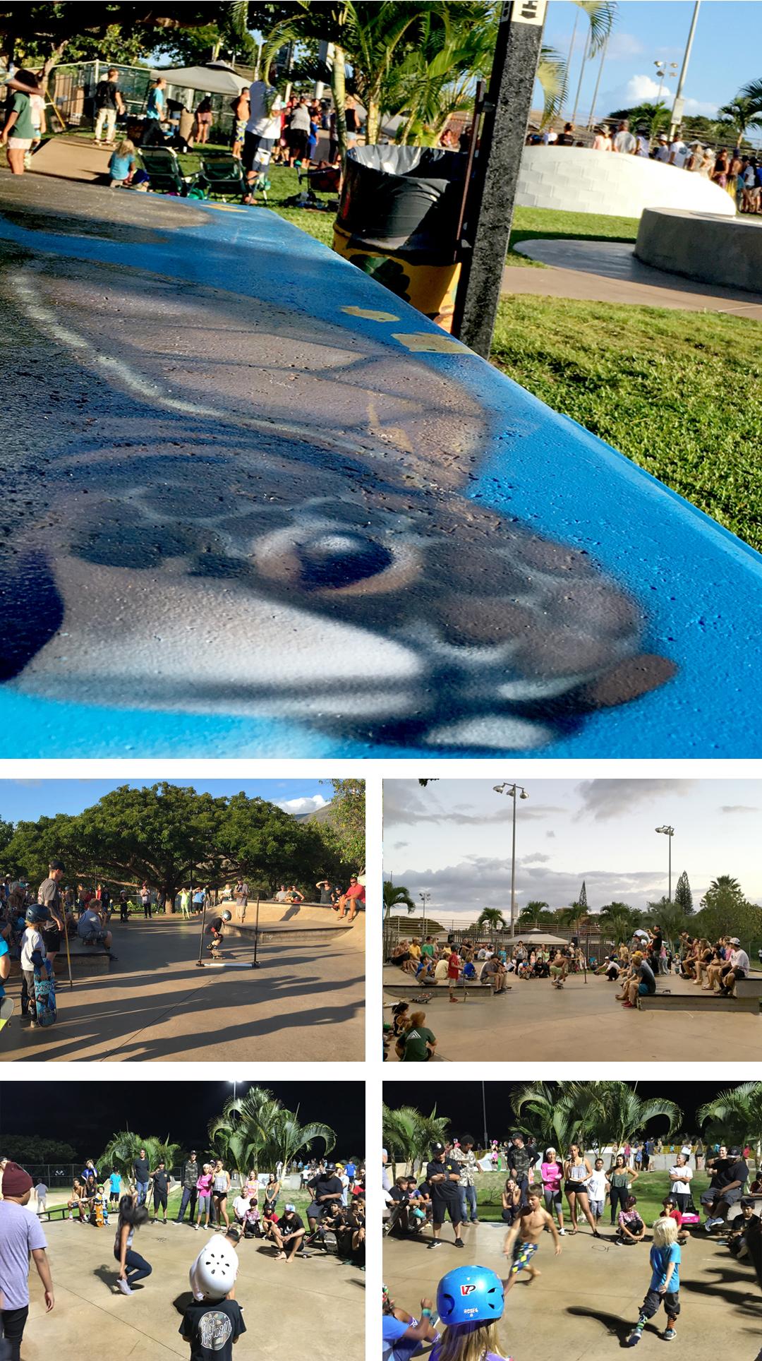 10 skate day unveiling Lahaina skate park