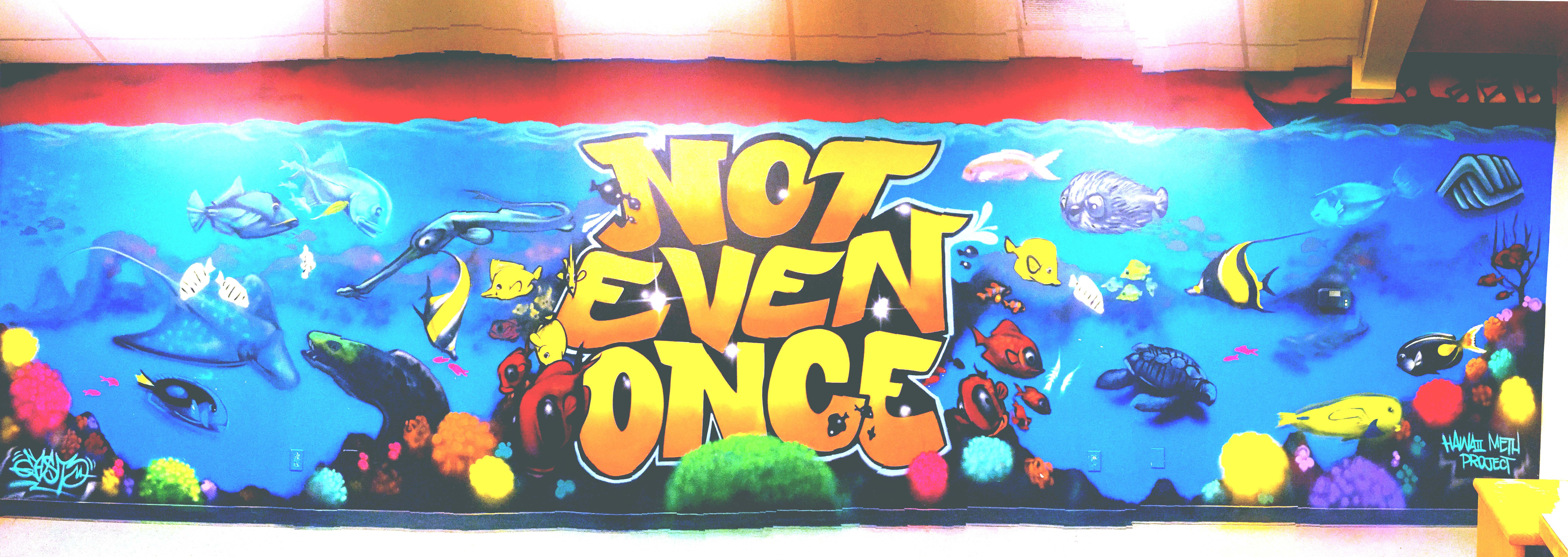 Our First Mural Was Painted At Bgcm Lahaina In February Of 2017 And It Partnership With The Hawaii Meth Project To Create An Awareness Themed